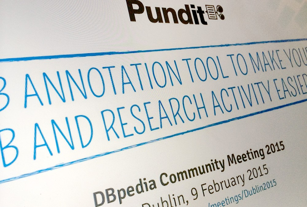 Pundit presentation at 3rd DBpedia Community Meeting